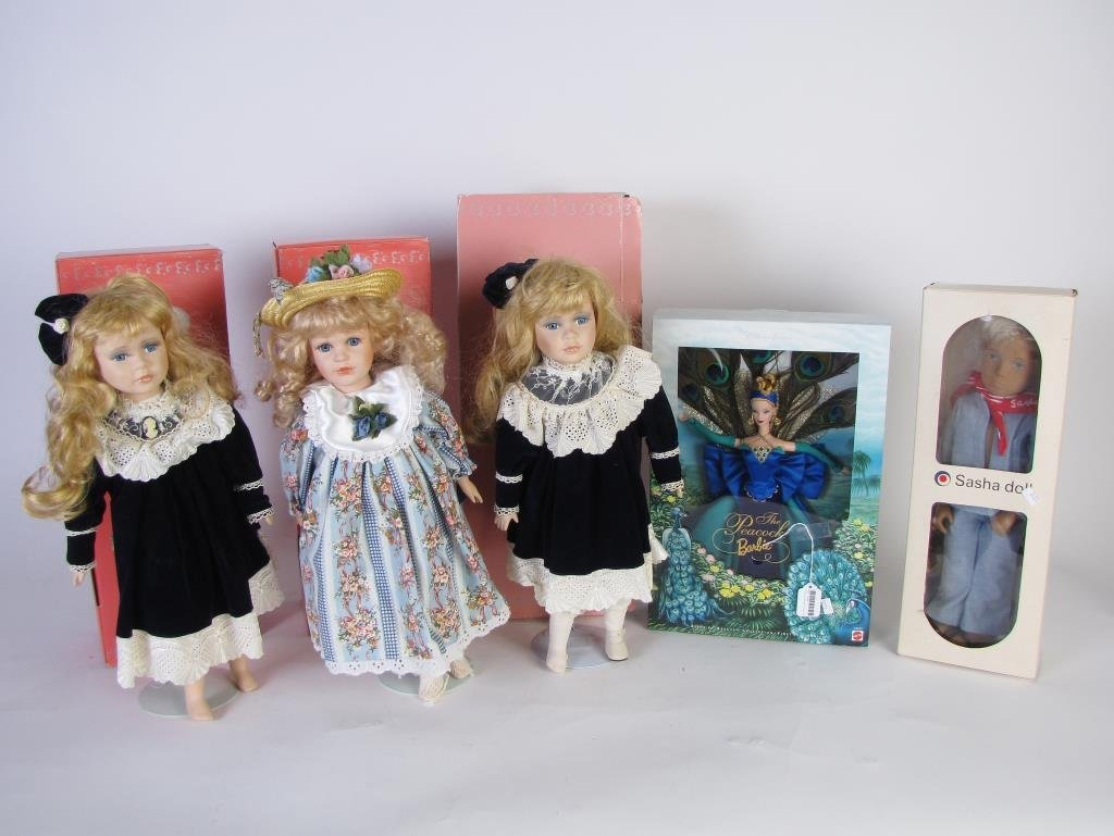 A Group of Collectible Dolls
