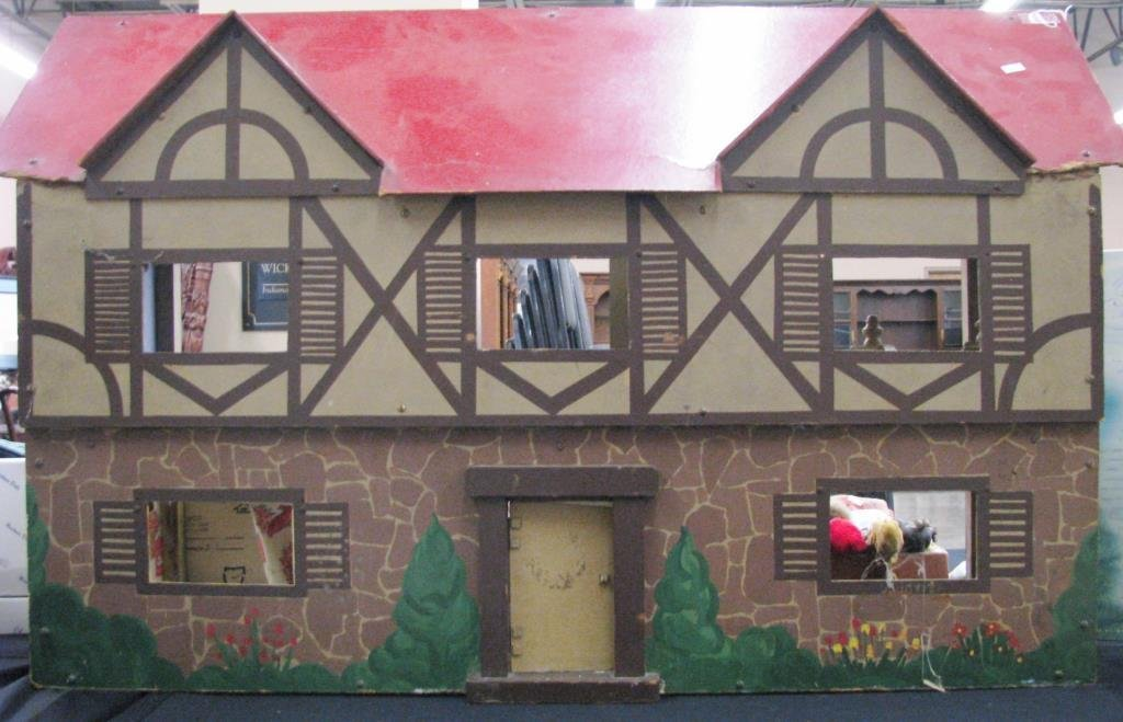 Vintage Wooden Doll House
