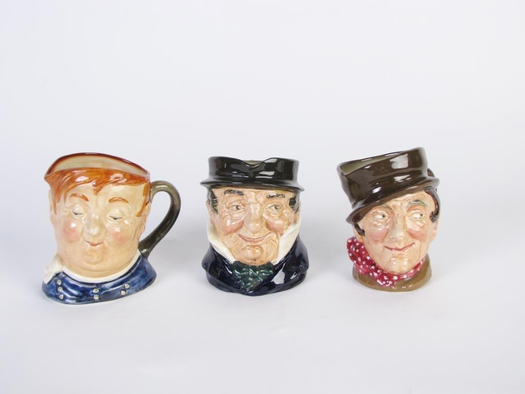 Three Royal Doulton Toby Mugs