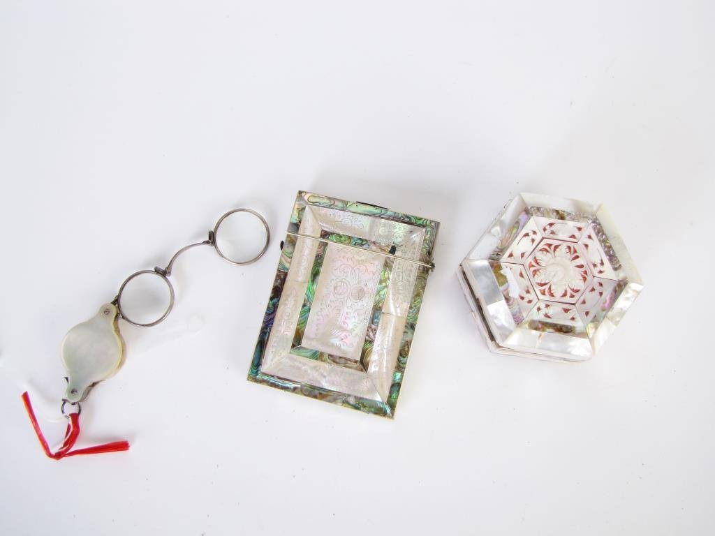 Group of Mother of Pearl Accessories