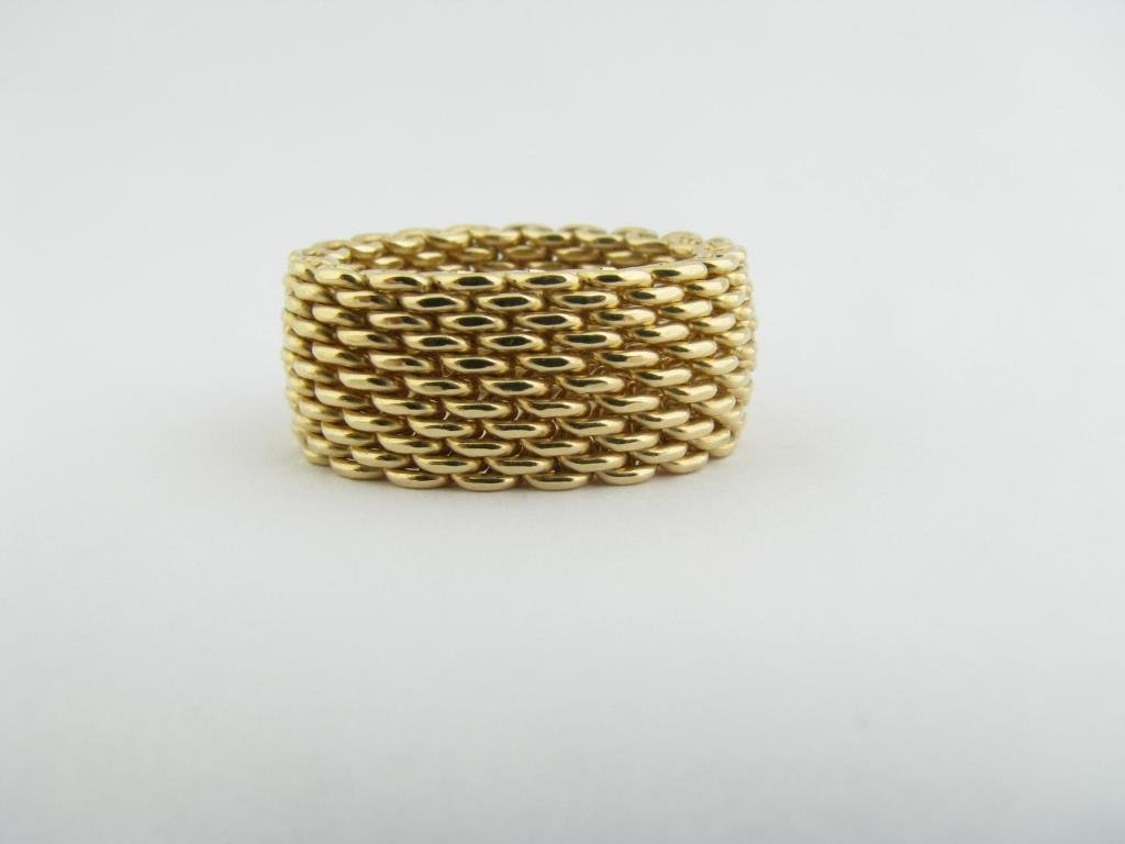 18k Tiffany And Co Woven Mesh Band
