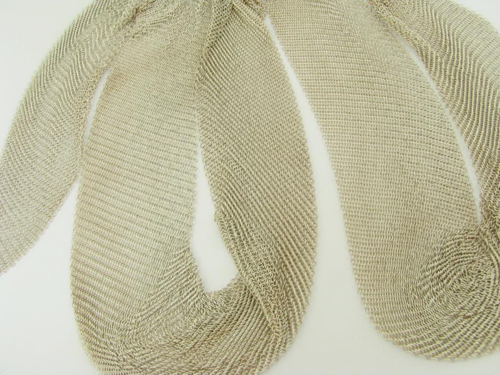 "Sterling Silver Tiffany & Co. 36"" Woven Scarf"