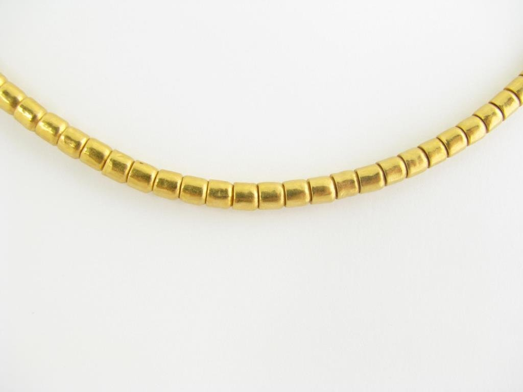 24k Gurhan Tube Bead Necklace