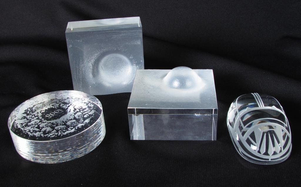 Group of Paperweights, Steuben & Tiffany & Co.