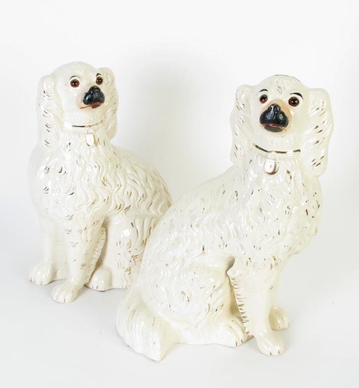 Large Pair of Staffordshire Spaniels