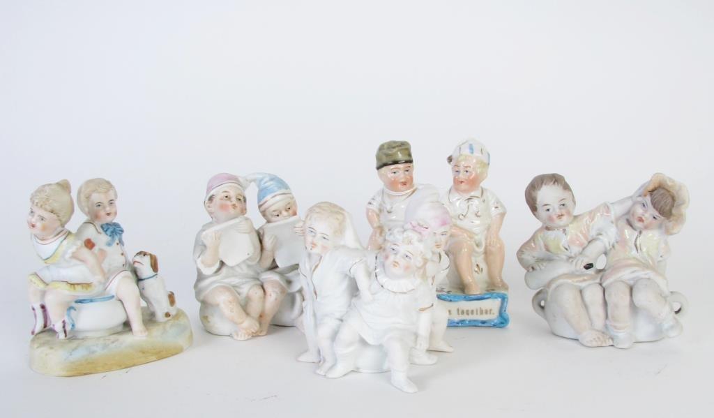 Group of Porcelain Potty Babies
