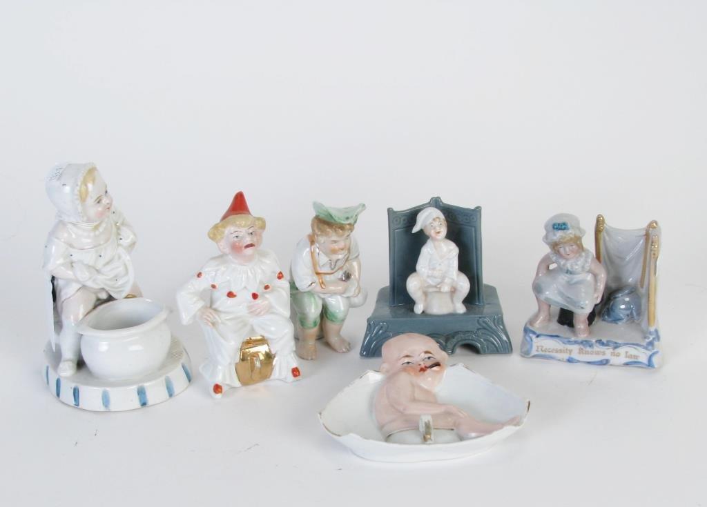 Group of Six Porcelain Potty Babies