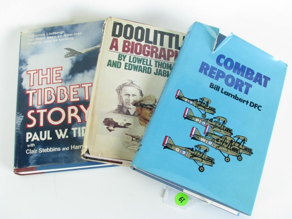 Three Military books, Signed