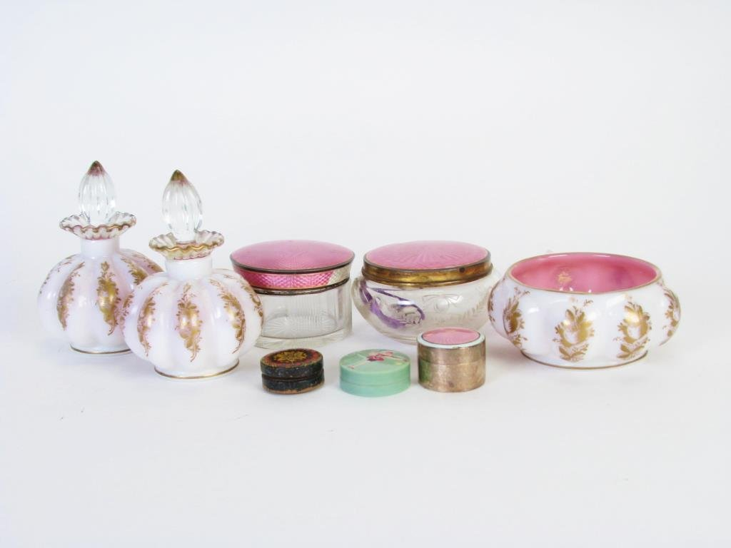 Group of Dresser Top Accessories