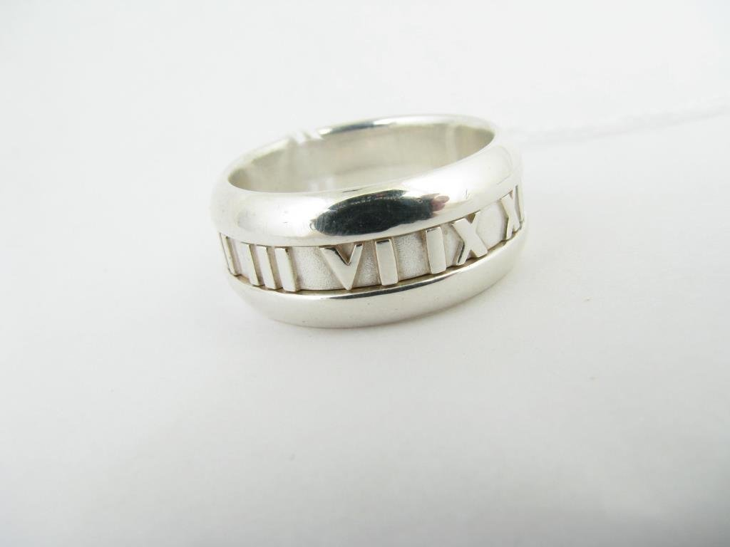 Sterling Silver Tiffany & Co. Atlas Collection Rin