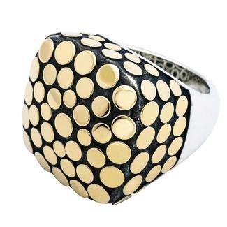 John Hardy Sterling/18K Dot Collection Ring