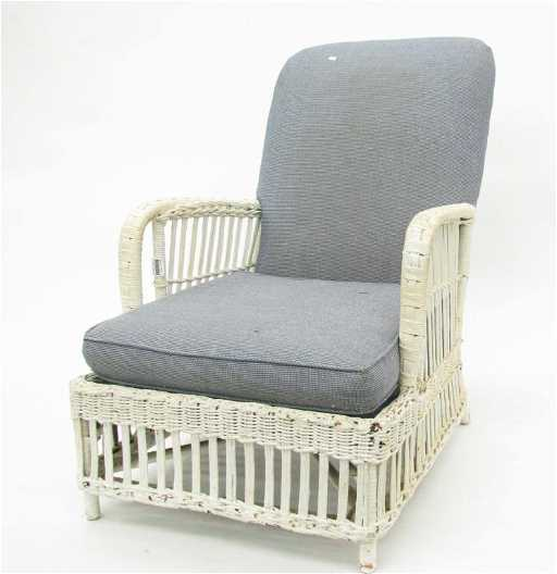 Karpen Antique Wicker Chair. See Sold Price - Karpen Antique Wicker Chair