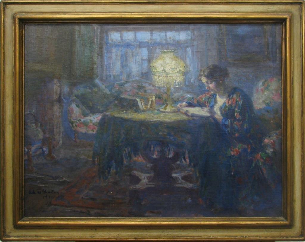 Robt. W. Grafton 24x32 O/C Linda at Home, 1914