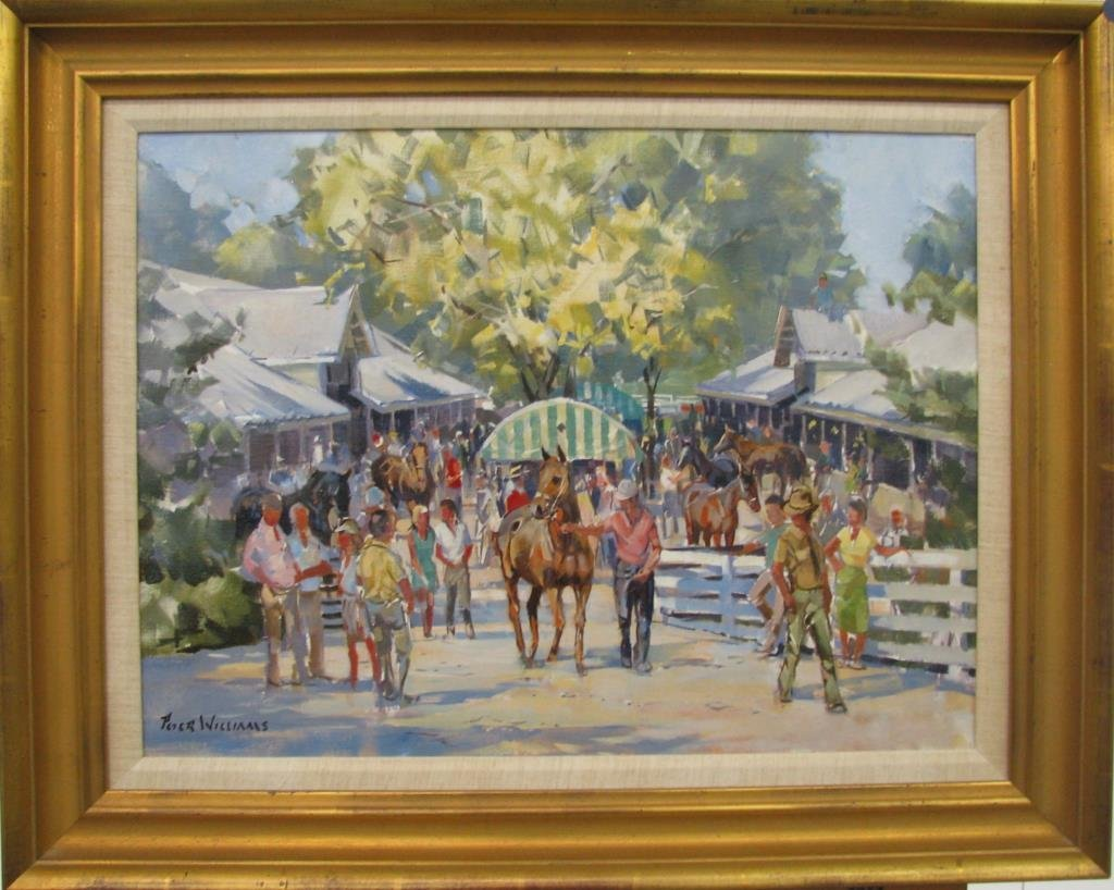 Peter Williams 18x24 O/C Keeneland Yearling Sales