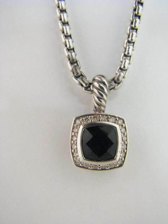 David Yurman Onyx/Diamond Sterling Albion Enhancer