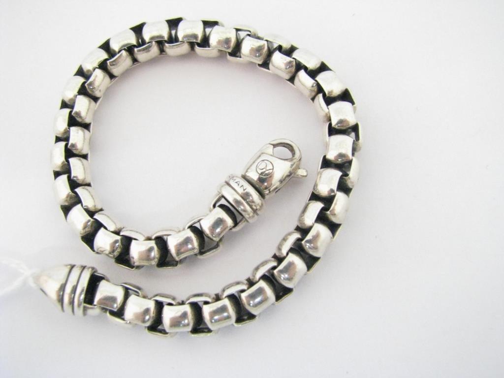 David Yurman Men's Sterling Box Chain Bracelet
