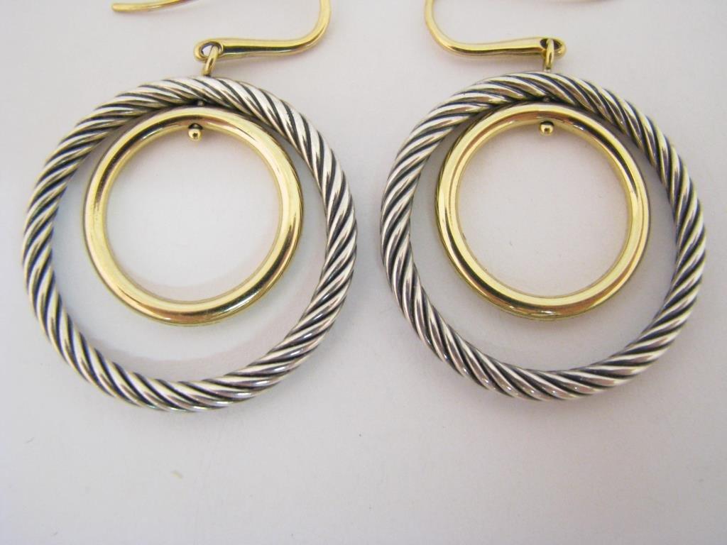 David Yurman 18K/Sterling Mobile Earrings