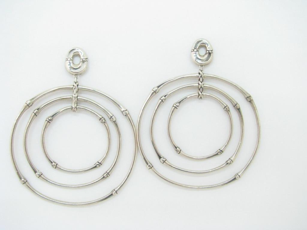 John Hardy Sterling Bamboo Orbital Hoop Earrings