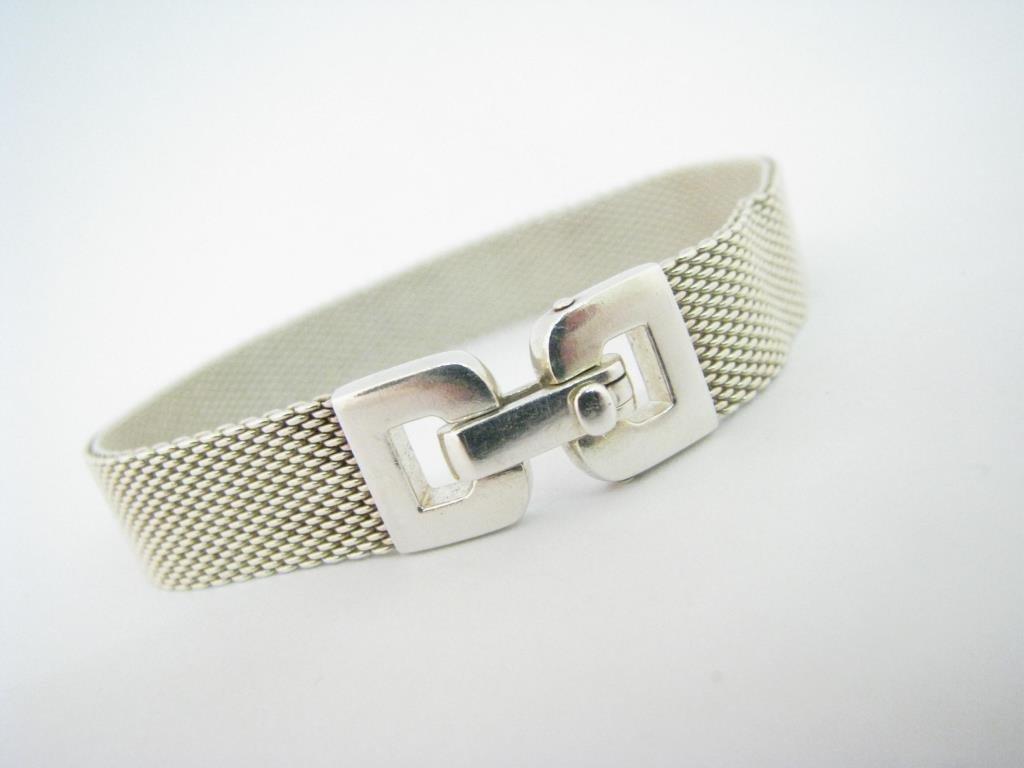 Sterling Silver Tiffany & Co. Mesh Bracelet