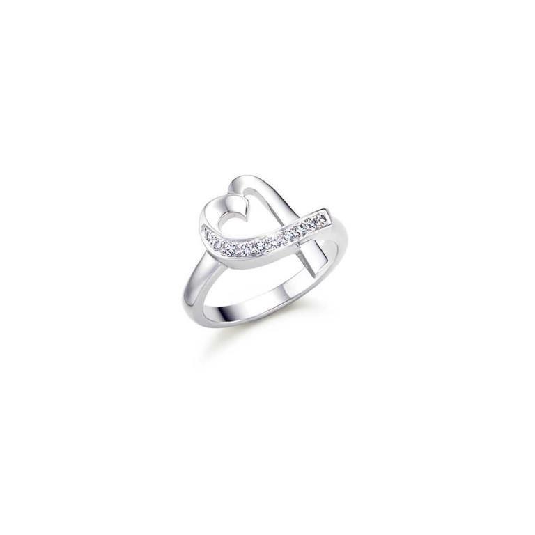 "18K Tiffany, Picasso Diamond ""Loving Heart"" Ring"
