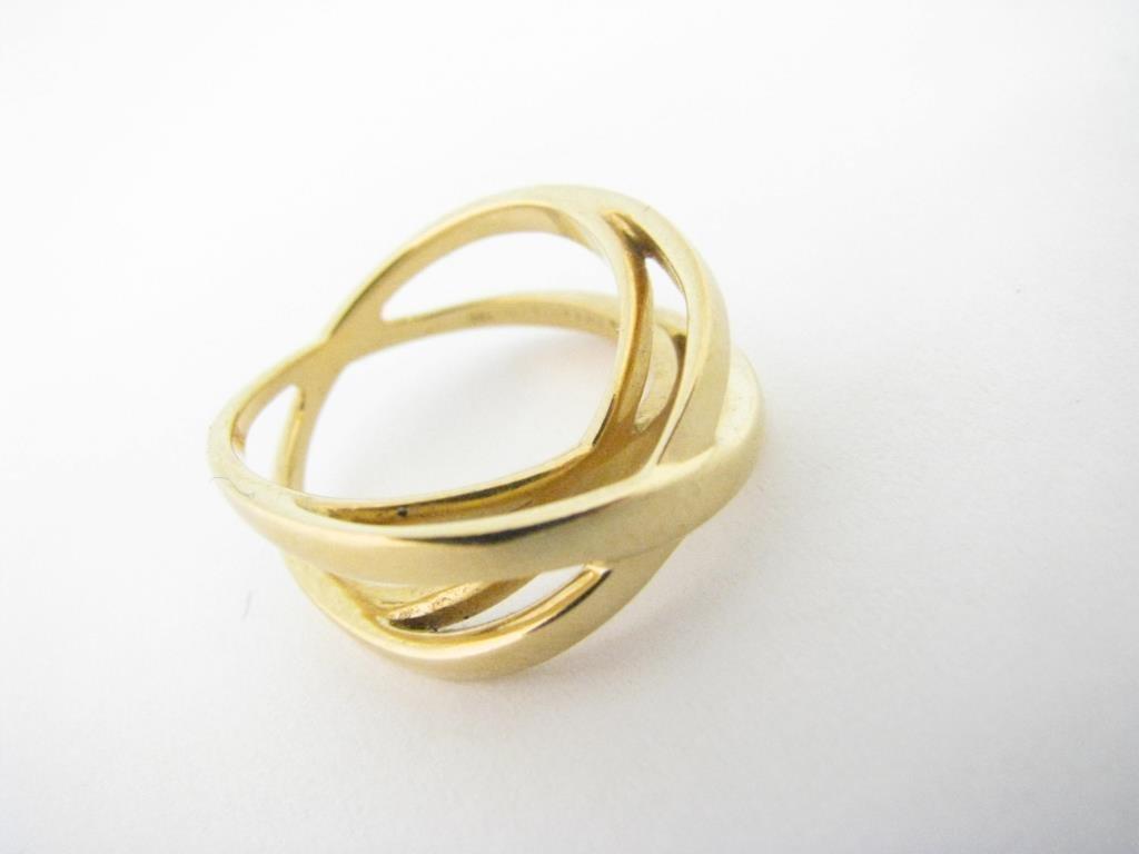 18K Tiffany & Co. Criss-Cross Ring