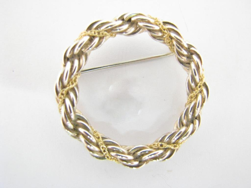 Tiffany & Co. 18K and Sterling Twist Wreath Brooch