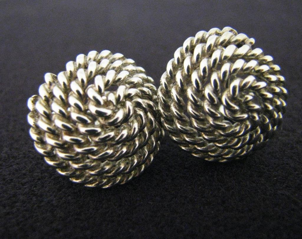 Tiffany Sterling Twisted Rope Earrings