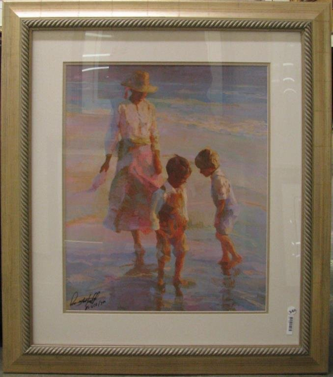 """Don Hatfield """"Dancing in the Sand"""" print, framed"""