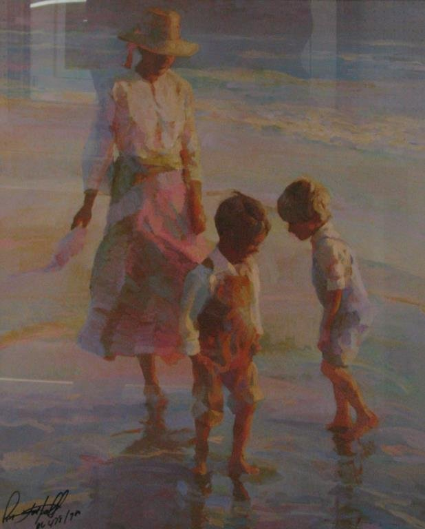 """Don Hatfield """"Dancing in the Sand"""" print, framed - 2"""