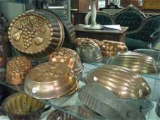 Group of Vintage Copper Kitchen Accessories
