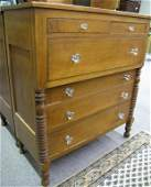 Country Antique Six Drawer Chest