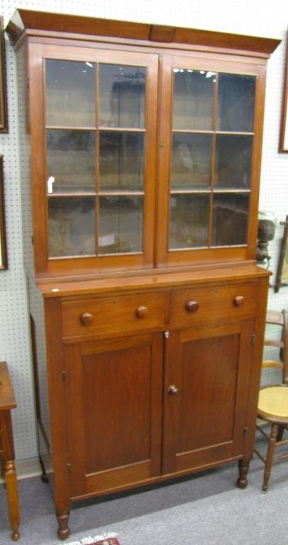 Antique Cherry Stepback Cupboard