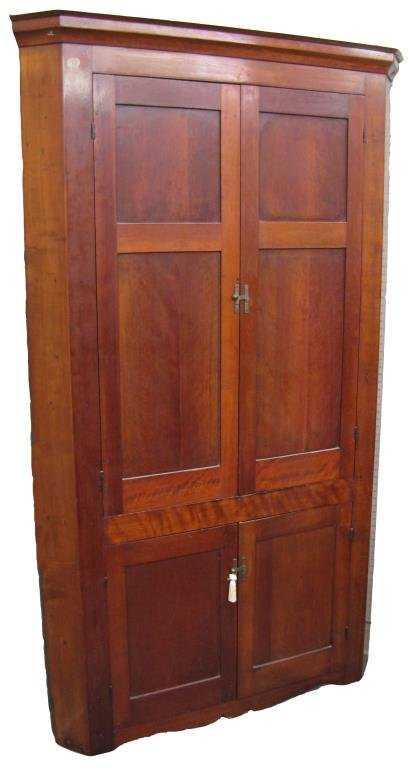 - Antique Cherry Corner Cupboard