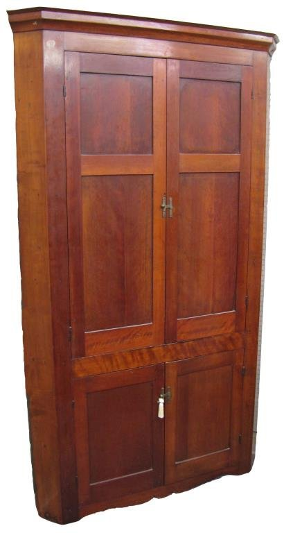 Antique Cherry Corner Cupboard