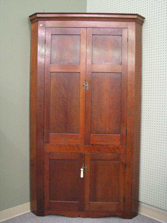 Antique Cherry Corner Cupboard - 2