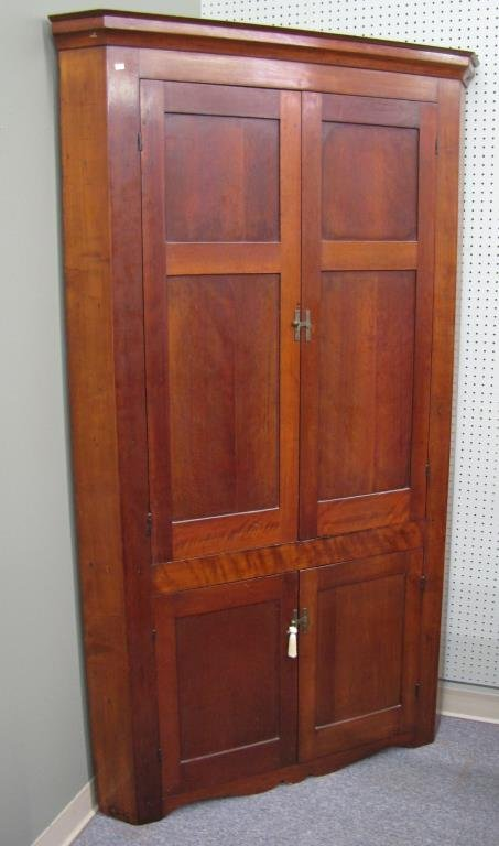 Antique Cherry Corner Cupboard - 3