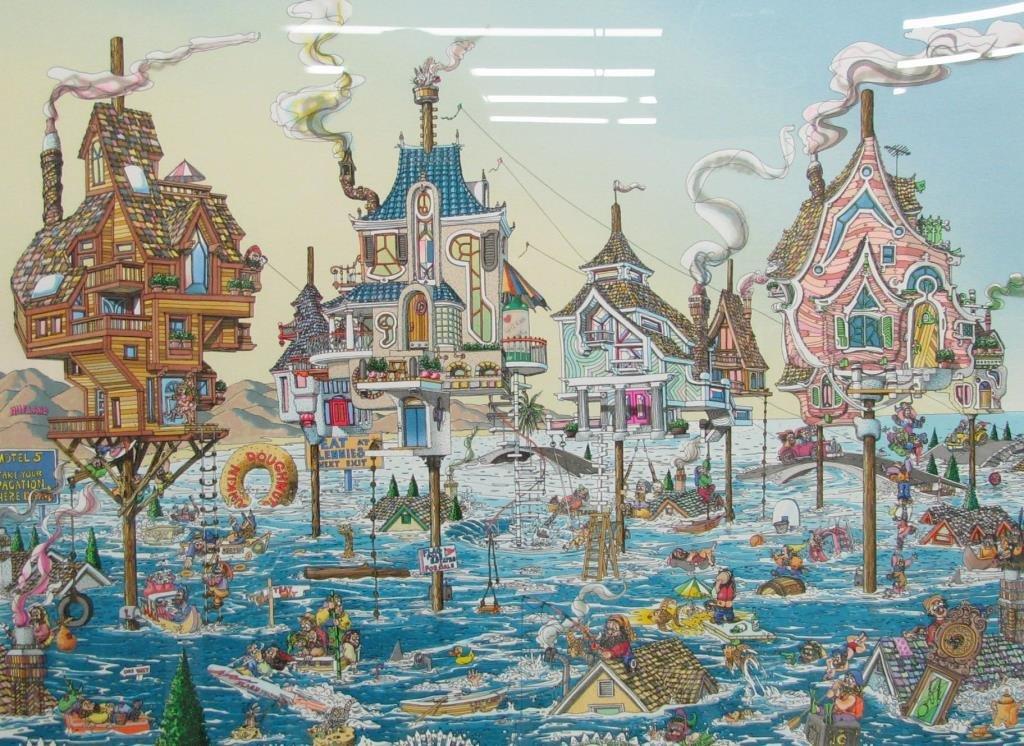 """David Badger """"High Tide"""", Framed Serigraph - 2"""