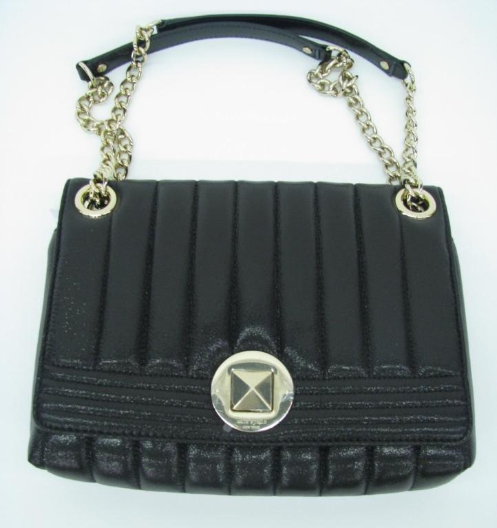 "Kate Spade ""Evangeline"" Black Leather Handbag"
