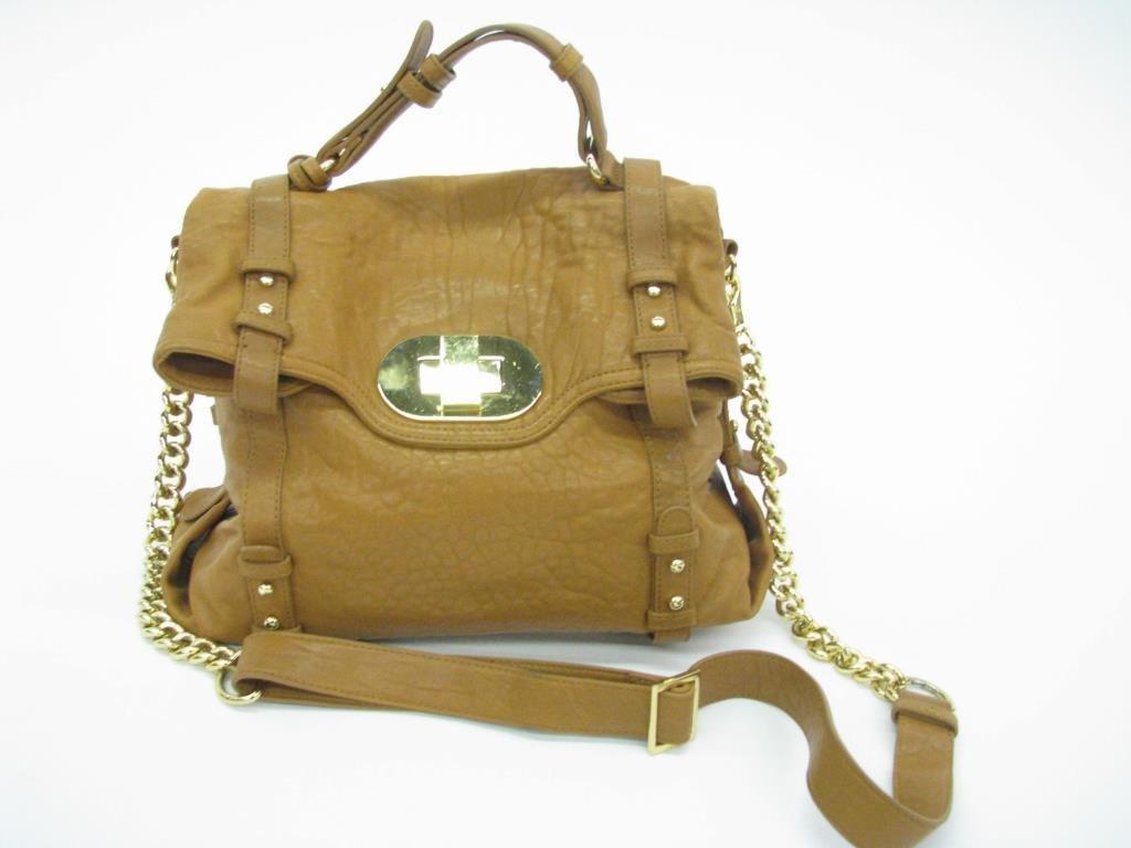 Mischka Leather Messenger Hobo Bag