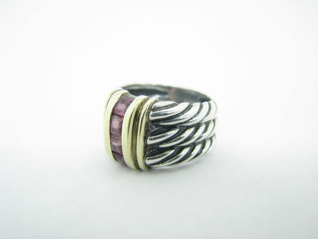 Yurman Sterling/14K Pink Tourmaline Cable Ring