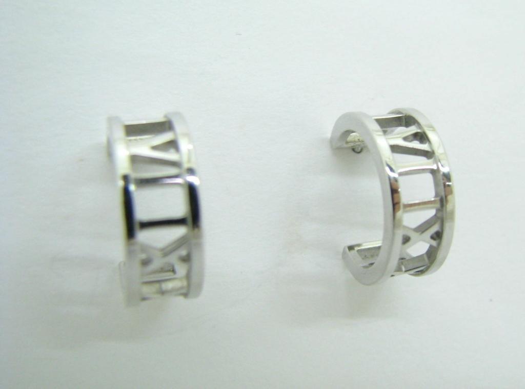 """Tiffany & Co. """"Atlas"""" 2003 18K Mini Hoop Earrings"""