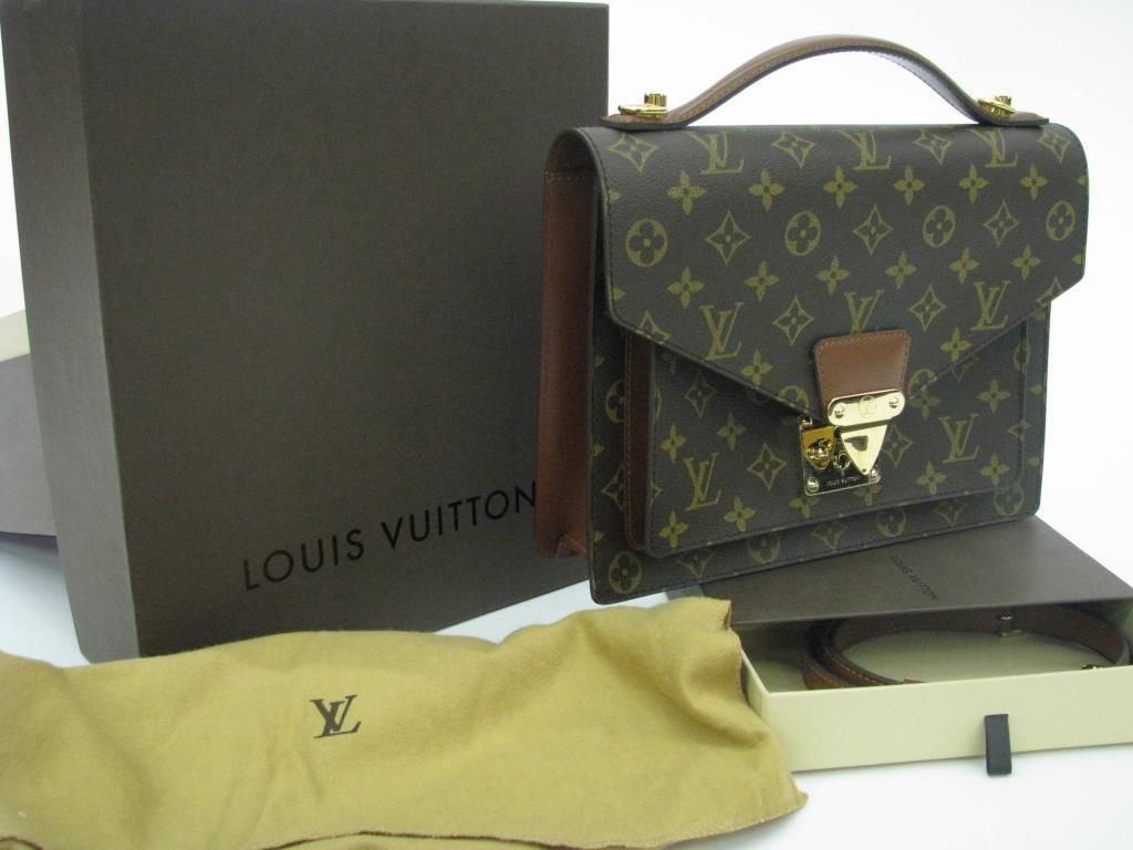 """L. Vuitton Monogram Canvas """"Monceau"""" Bag"""