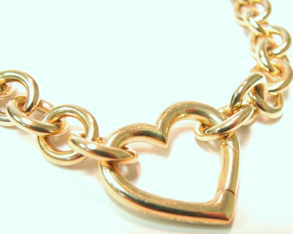 Tiffany & Co. 18K Yellow Gold Heart Shape Necklace