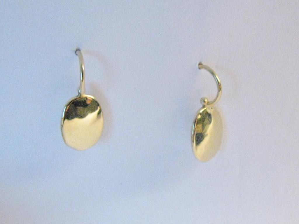 18K Tiffany & Co. by Peretti Oval Drop Earrings