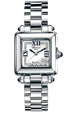 Lady's Chopard Happy Sport Square Diamond Watch