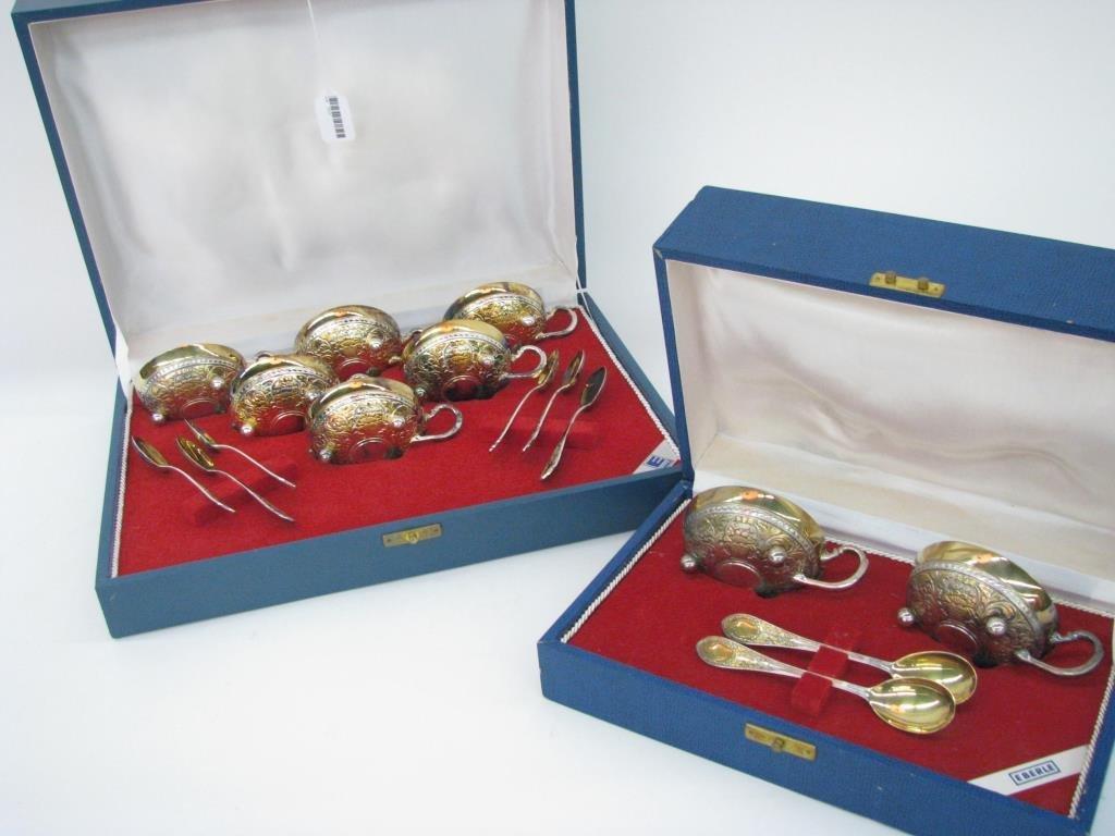 Eberle Silver Plate Tea Cup Sets