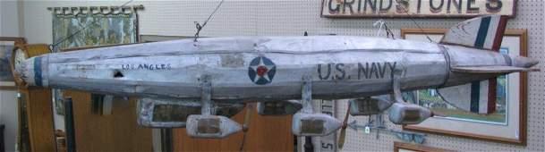 Vintage Folk Art Style Los Angeles Air Ship Model