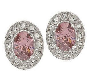 Tacori IV Diamonique Epiphany Oval Earrings