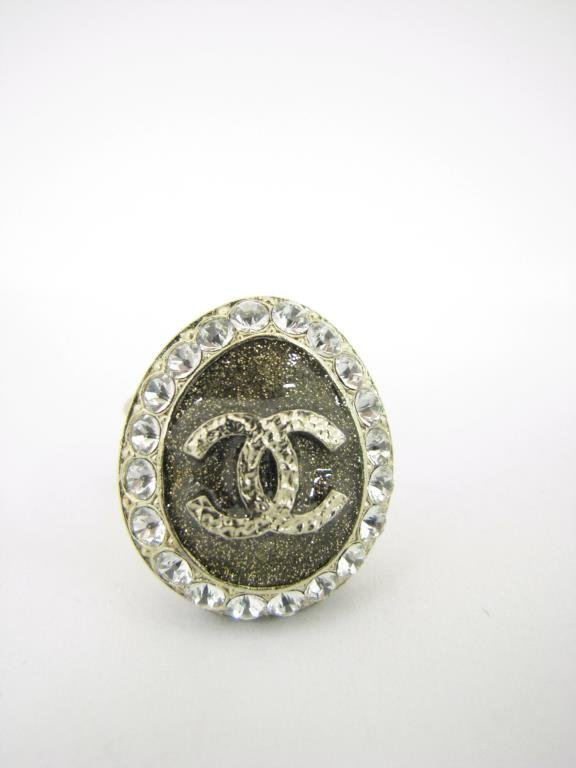 """Channel """"Coco Loves You"""" Locket Ring"""