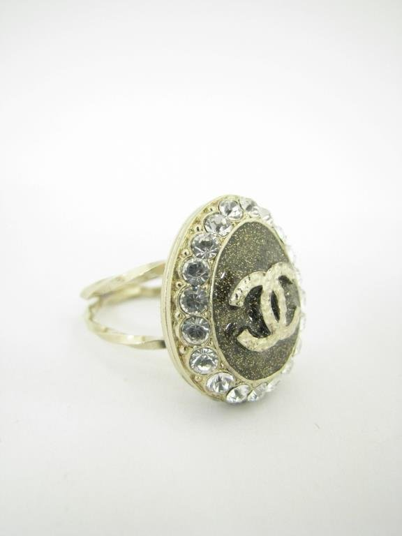 """Channel """"Coco Loves You"""" Locket Ring - 2"""